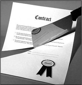contract - cut